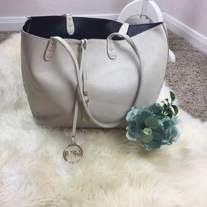 BCBG White Black Reversible Tote Bag